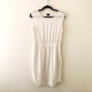 THEORY Natural White Linen Blend Dress